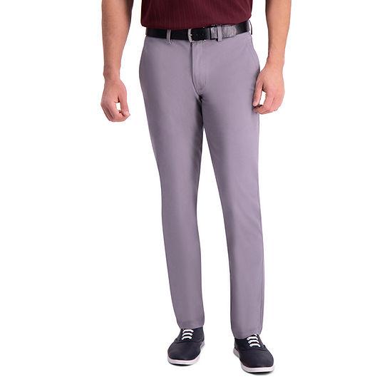 Haggar Premium Comfort Khaki Slim Fit Flat Front Pant