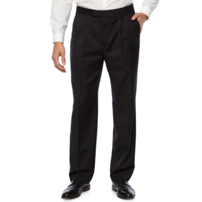 Stafford® Pleated Tuxedo Pants