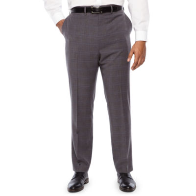 Shaquille O'Neal XLG Plaid Classic Fit Suit Pants - Big and Tall
