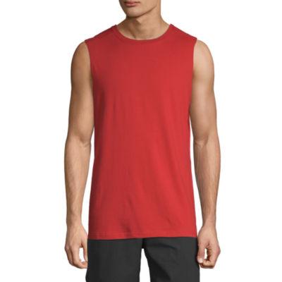 Xersion Mens Crew Neck Sleeveless Muscle T-Shirt
