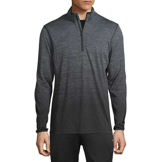 Xersion Mens Mock Neck Long Sleeve Quarter-Zip Pullover