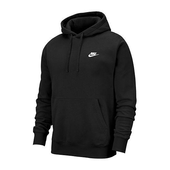 Nike-Big and Tall Mens Long Sleeve Embellished Hoodie