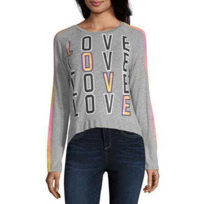 Self Esteem Not Applicable Womens Round Neck Long Sleeve Sweatshirt Juniors