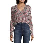 1e0531de5 Say What Womens V Neck Long Sleeve Sweatshirt Juniors - JCPenney