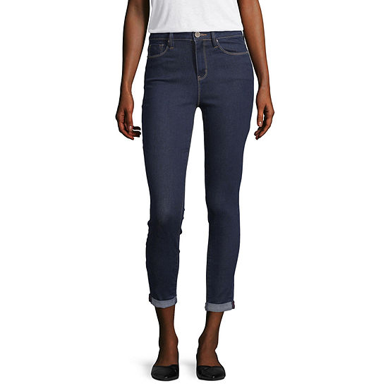 YMI Womens High Waisted Skinny Cropped Jean - Juniors