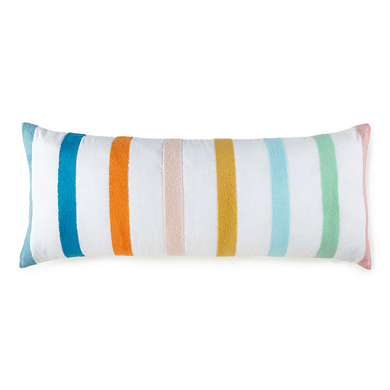 Home Expressions Chenille Stripe Body Pillow