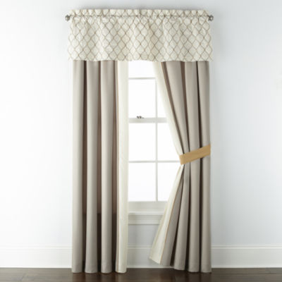 JCPenney Home Carissa Light-Filtering Rod-Pocket Curtain Panel