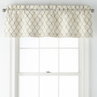 JCPenney Home Carissa Rod-Pocket Tailored Valance