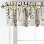 Home Expressions Paris Gold Rod-Pocket Tailored Valance