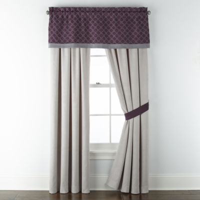 JCPenney Home Bozeman Light-Filtering Rod-Pocket Curtain Panel