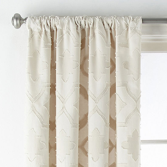 JCPenney Home Riley Rod-Pocket Curtain Panel
