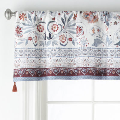 JCPenney Home Caravan Rod-Pocket Tailored Valance