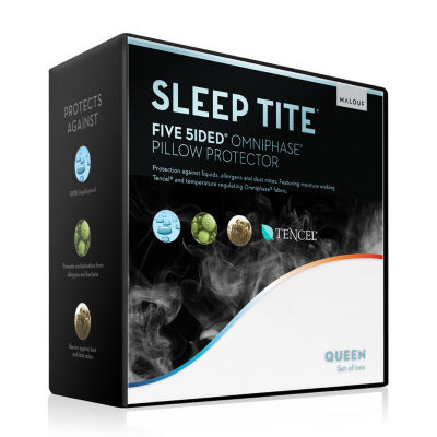 Sleep Tite Five-5ided Omniphase and Tencel Lyocell Pillow Protector 2-Pack