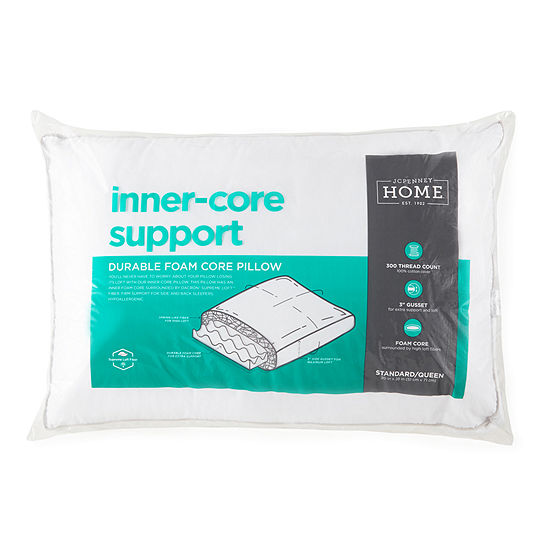 JCPenney Home Inner Core Support Down Alternative Pillow