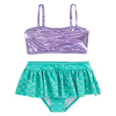 Disney Girls The Little Mermaid 2-Piece Swim Set
