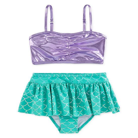 Disney Girls The Little Mermaid 2-Piece Swim Set