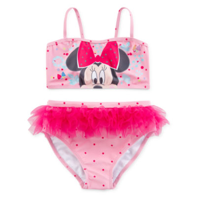 Disney Girls Minnie Mouse 2-Piece Swim Set