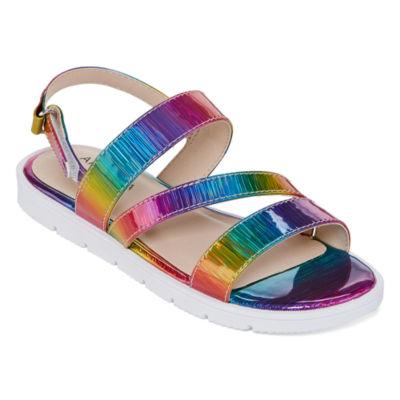Arizona Big Kids Girls China Slingback Strap Flat Sandals