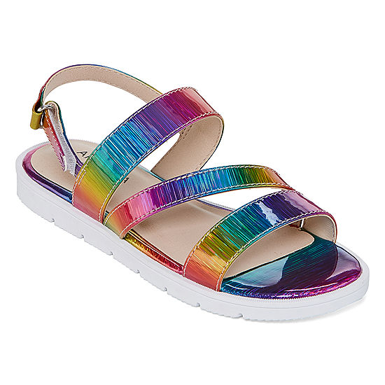 672f647636ff Arizona Big Kids Girls China Slingback Strap Flat Sandals - JCPenney
