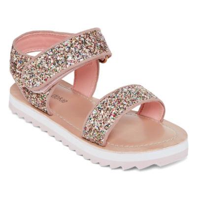 Okie Dokie Toddler Girls Petal Adjustable Strap Flat Sandals