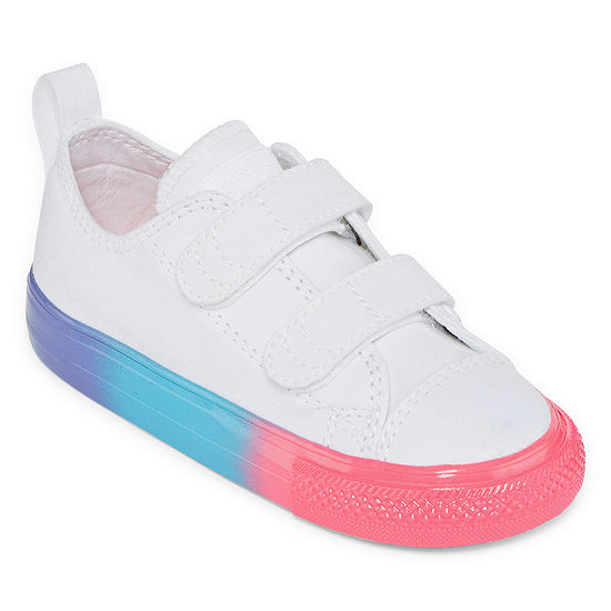 Converse Chuck Taylor All Star Rainbow Ice Toddler Girls Hook And Loop Sneakers
