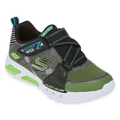 Skechers Flex-Glow Little Kid/Big Kid Boys Hook and Loop Sneakers