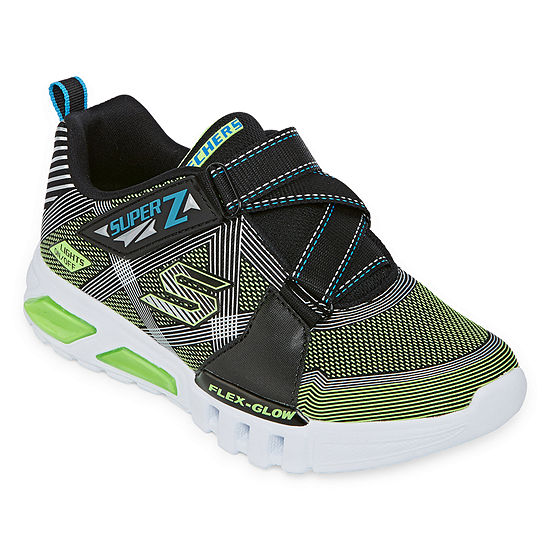 Skechers Flex-Glow Little Kid/Big Kid Boys Hook and Loop Sneakers