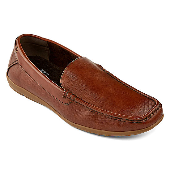 JF J.Ferrar Mens Closed Toe Slip-on Oxford Shoes