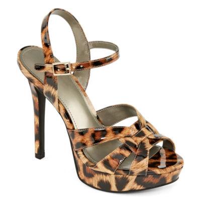 Worthington Womens Knight Heeled Sandals