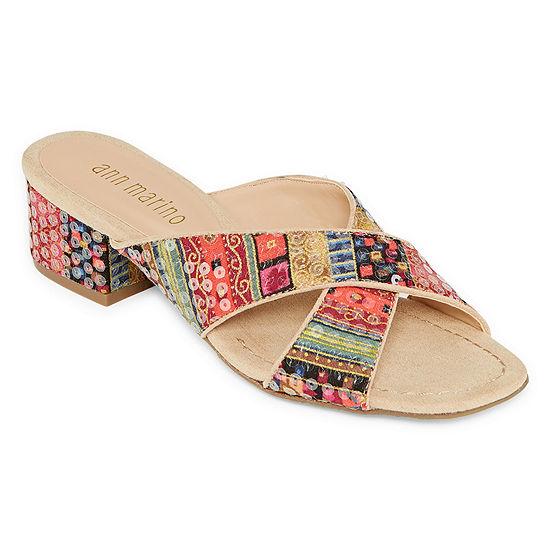Ann Marino Womens Zip Me Up Heeled Sandals