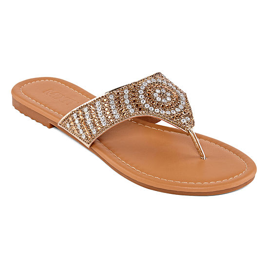 51f9db7cedca Mixit Womens Bling Burst Shield Flip-Flops - JCPenney