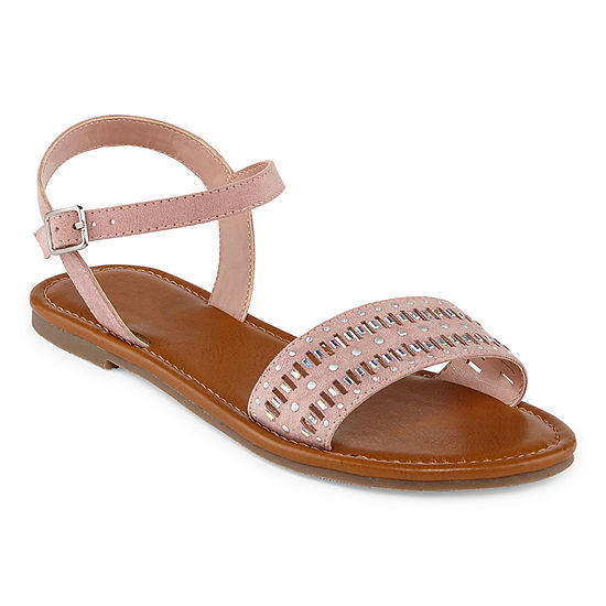 Arizona Womens Genna Adjustable Strap Flat Sandals