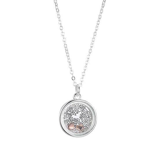 Sparkle Allure Womens Crystal Pure Silver Over Brass Pendant Necklace
