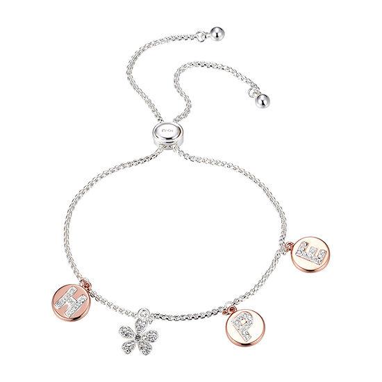 Sparkle Allure Hope Crystal 9 3/4 Inch Box Bolo Bracelet
