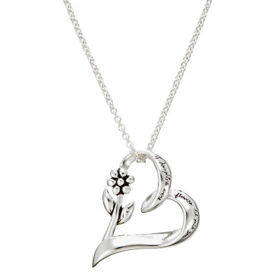 Footnotes Daughter Charm Womens Heart Pendant Necklace