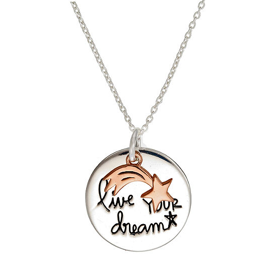 Footnotes Sterling Silver 18 Inch Cable Pendant Necklace