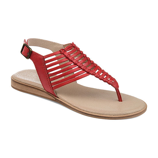 Journee Signature Womens Davis T-Strap Flat Sandals