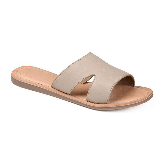 Journee Signature Womens Walker Flat Sandals