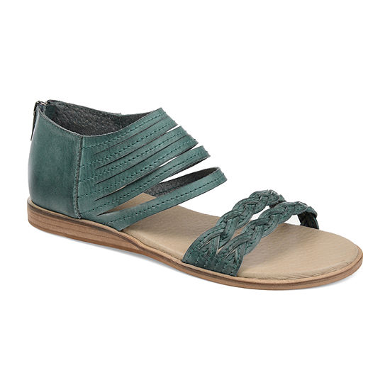 Journee Signature Womens Harpper Ankle Strap Flat Sandals
