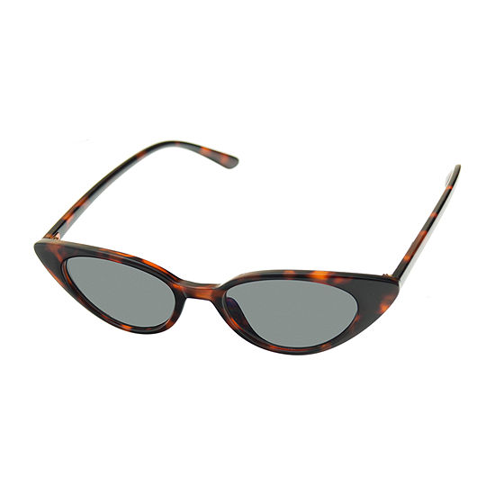 Arizona Womens Junior Full Frame Cat Eye UV Protection Sunglasses