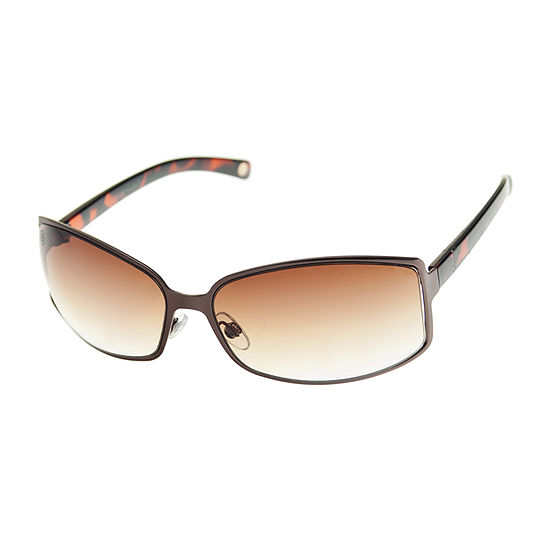 Nicole By Nicole Miller Womens Full Frame Wrap Around UV Protection Sunglasses