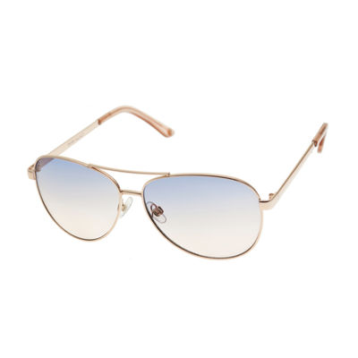 Nicole By Nicole Miller Womens Full Frame Aviator UV Protection Sunglasses