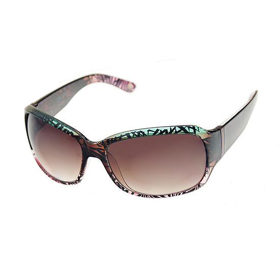 Nicole By Nicole Miller Womens Full Frame Rectangular UV Protection Sunglasses