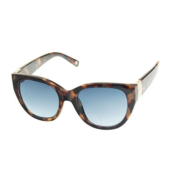 Nicole By Nicole Miller Womens Cat Eye Full Frame UV Protection Sunglasses