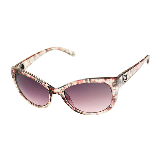 Nicole By Nicole Miller Womens Oval Full Frame Oval UV Protection Sunglasses
