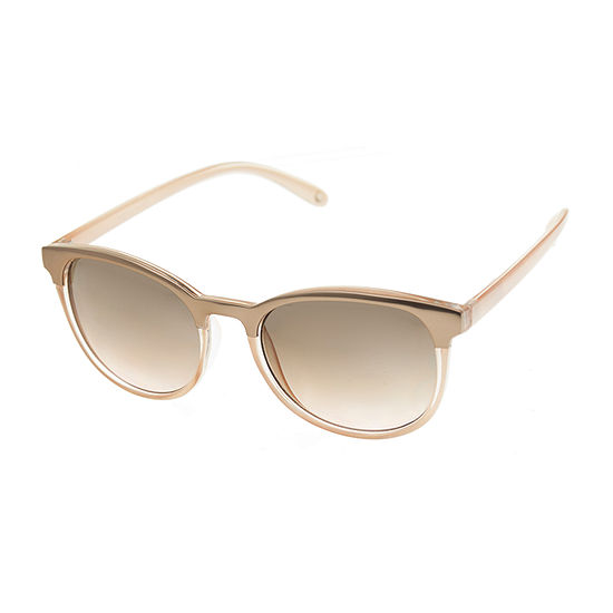 Nicole By Nicole Miller Womens Full Frame Round UV Protection Sunglasses