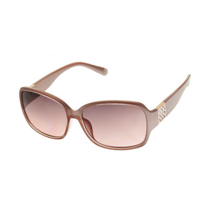 Nicole By Nicole Miller Womens Full Frame Rectangular UV Protection Sunglasses