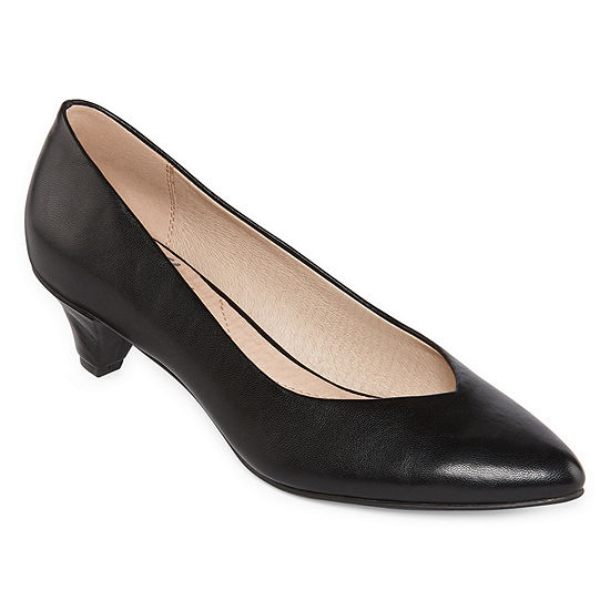 Royu Womens Wylie Slip-on Pointed Toe Cone Heel Pumps