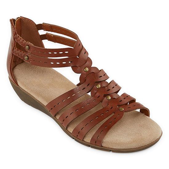 Yuu Womens Fahna Ankle Strap Gladiator Sandals Wide Width