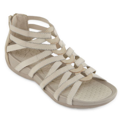Yuu Womens Tildy Criss Cross Strap Gladiator Sandals